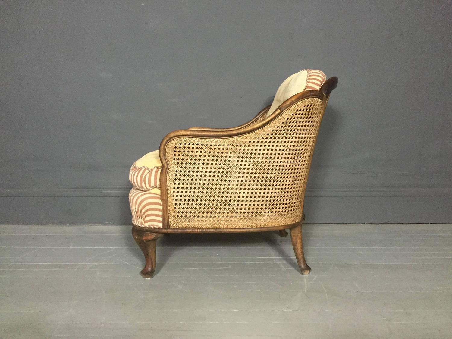 1930 cane back sofa multi purpose bed in bangalore pair of bergere tub chairs walnut and sweden 1930s