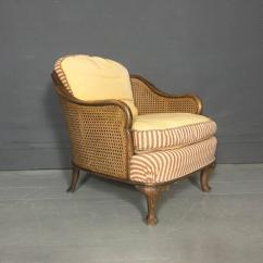 1930 Cane Back Sofa Cuddler Sectional Pair Of Bergere Tub Chairs Walnut And Sweden 1930s