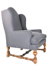English Baroque Style Wingback Chair For Sale at 1stdibs