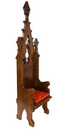 Ornate Gothic Bishop's Chair at 1stdibs