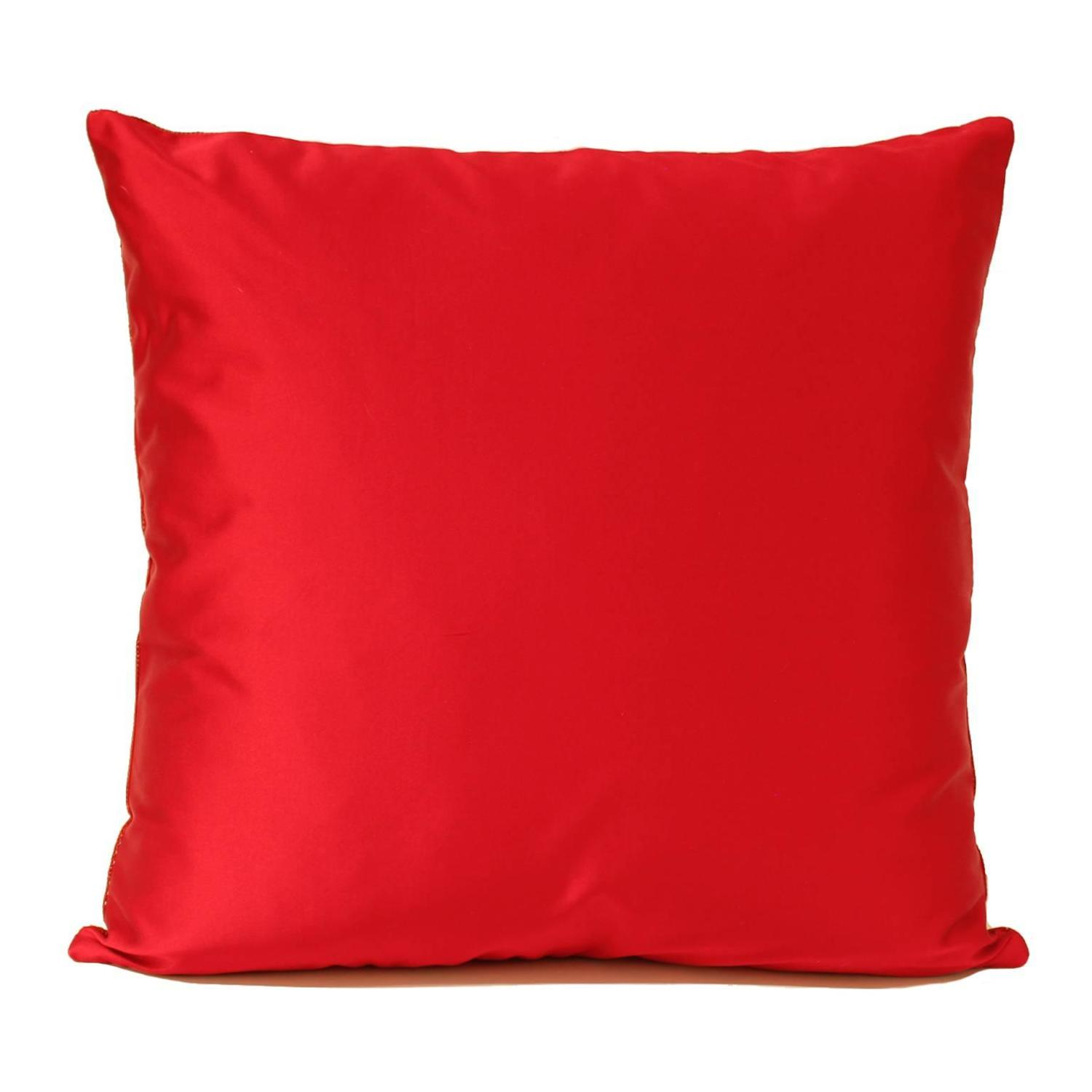 Large Red Perforated Leather Pillow For Sale at 1stdibs
