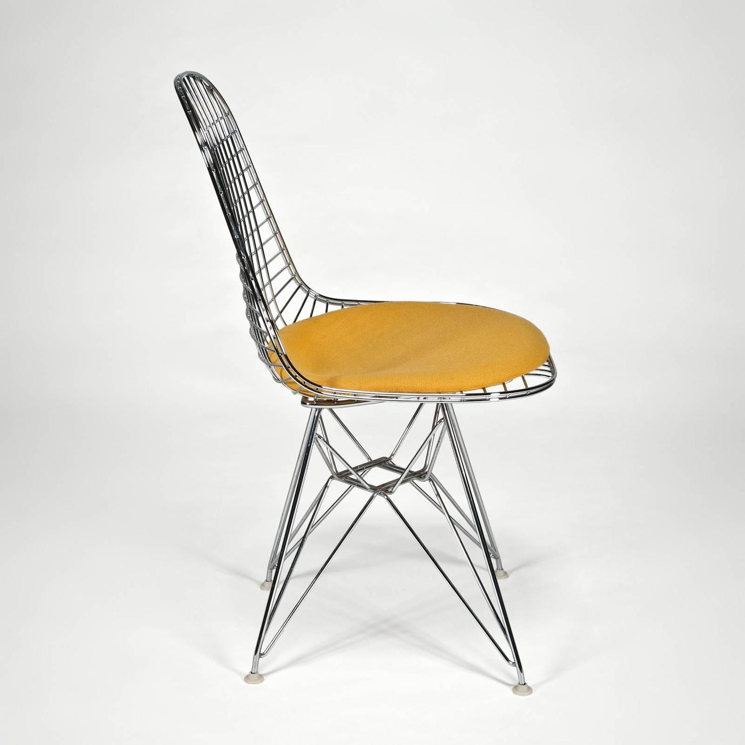 eames chair cushion folding sport chairs heavy duty wire side 39dkr 39 with seat by charles and ray
