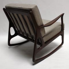 Mid Century Rocker Chair Large Slipcovers Modern Italian Upholstered Walnut Rocking