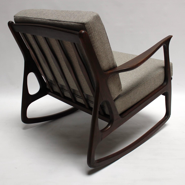 midcentury rocking chair christmas covers kmart mid century modern italian upholstered walnut