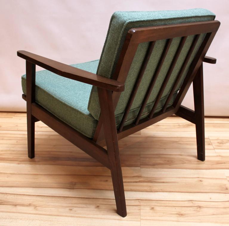 Pair of 1950s Japanese MidCentury Modern Upholstered