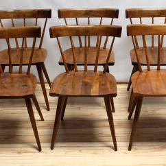 Maple Dining Room Chairs Chair Exercise Video Set Of Six 1950s Paul Mccobb Planner Group