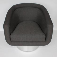 Swivel Chair Leons Metal Folding Covers For Sale Pair Of Leon Rosen Pedestal Lounge Chairs At 1stdibs