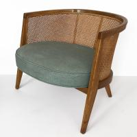 Harvey Probber Cane Curved Back Lounge Chair For Sale at ...