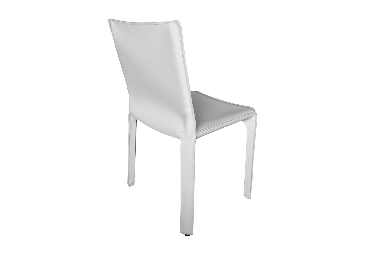 white leather chairs for sale wedding chair covers middlesbrough cassina cab in at 1stdibs