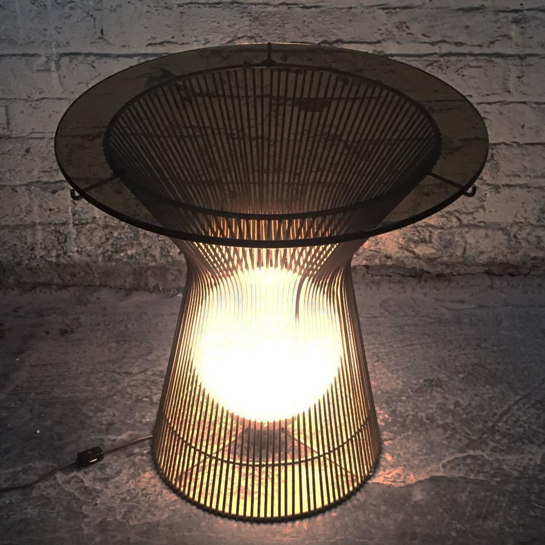 Laurel Lamp EndSide Table In Style Of Warren Platner For