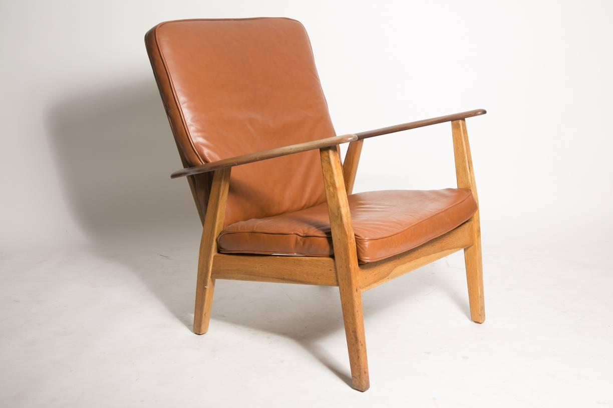 Cigar Lounge Chairs Leather Cigar Chair Attributed To Hans J Wegner For Sale