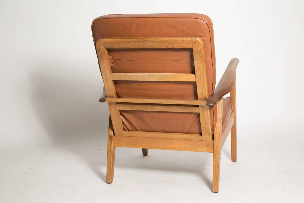 leather cigar chair dining room covers sydney attributed to hans j wegner for sale