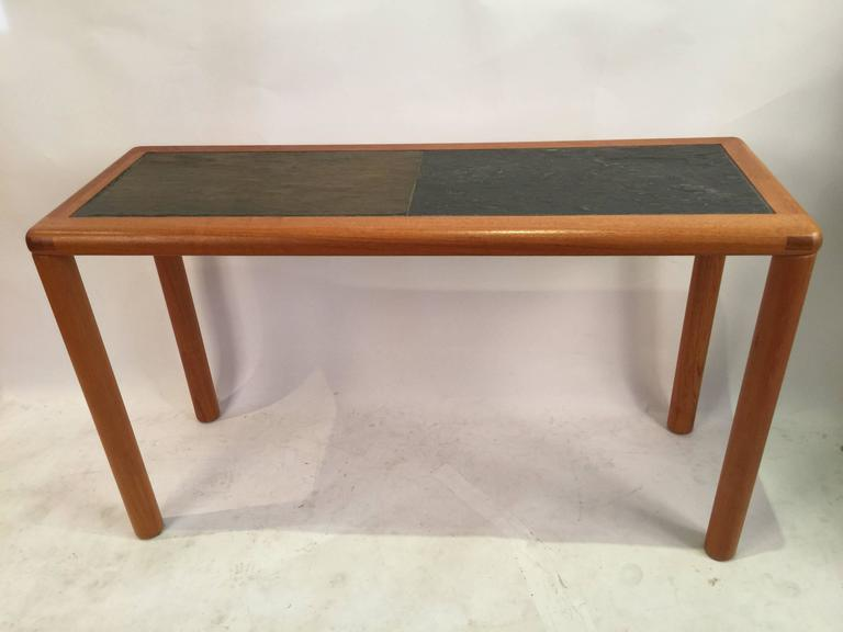 teak sofa table best makers in usa rectangular and slate by haslev for sale at 1stdibs scandinavian modern