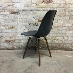 Navy Blue Dining Chair Dark Gray Set Of Eight Herman Miller Eames Chairs