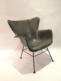 Lawrence Peabody for Selig Wingback Fiberglass Chair For ...