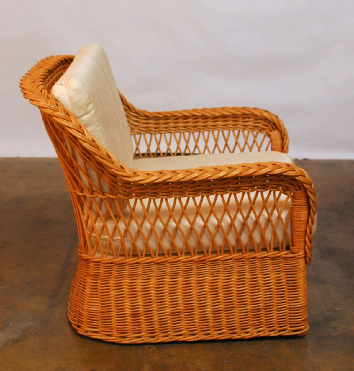 wicker chairs with ottoman underneath best office for back pain italian braided rattan lounge and at