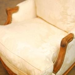 Minton Spidell Chairs Space Saver High Chair Cover Pair Of French Walnut Bergeres By At 1stdibs