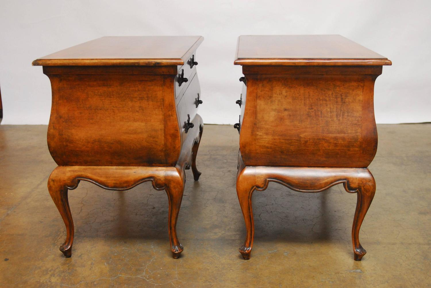 minton spidell chairs xmen wheelchair pair of dutch bombe chest commodes at 1stdibs