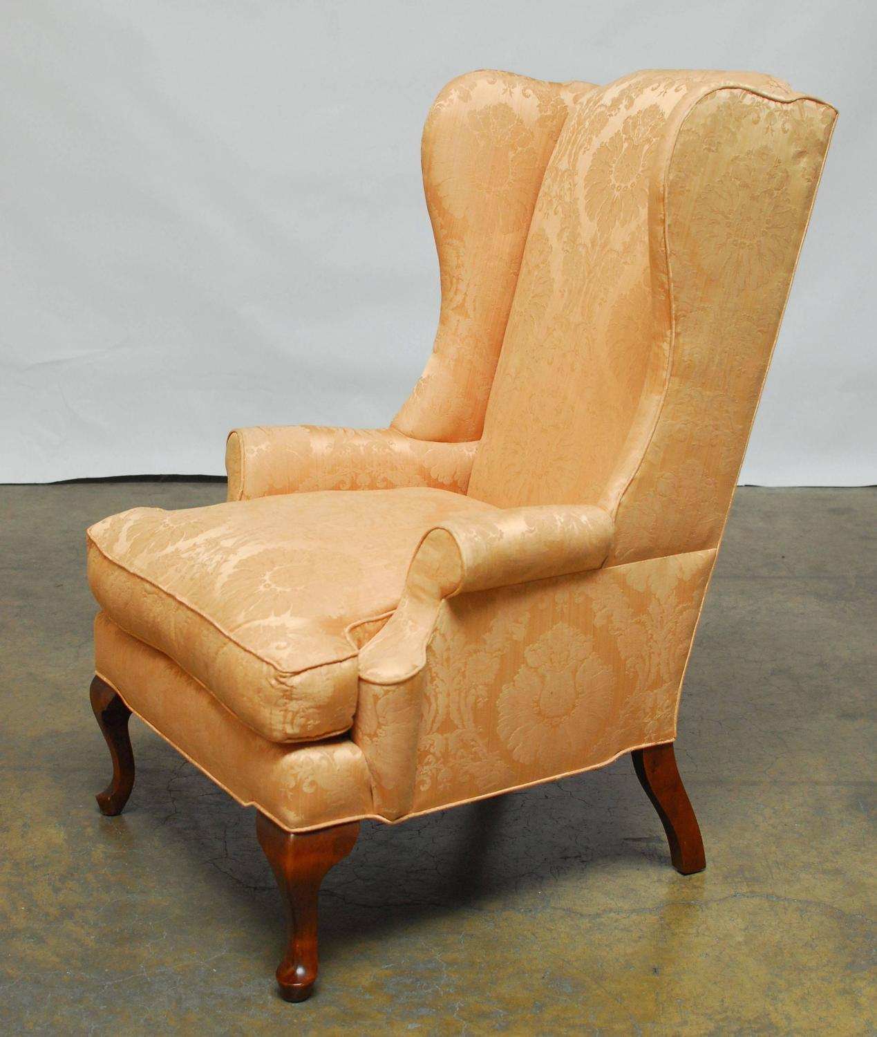 Queen Anne Wingback Chair Queen Anne Mahogany Wing Chair For Sale At 1stdibs