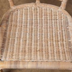 Fan Back Wicker Chair Bobs Furniture Cream Puff Pair Of Rattan Peacock Chairs For Sale At 1stdibs
