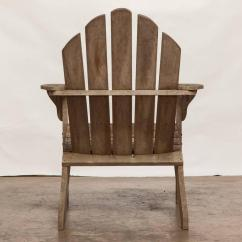 Distressed Adirondack Chairs Rocking Folding Lawn Chair Pair Of With Ottoman For Sale At 1stdibs