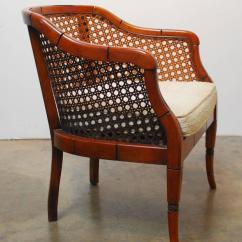 Mid Century Modern Cane Barrel Chairs Thomasville Wingback Back Chair Tyres2c Midcentury Bamboo For At 1stdibs