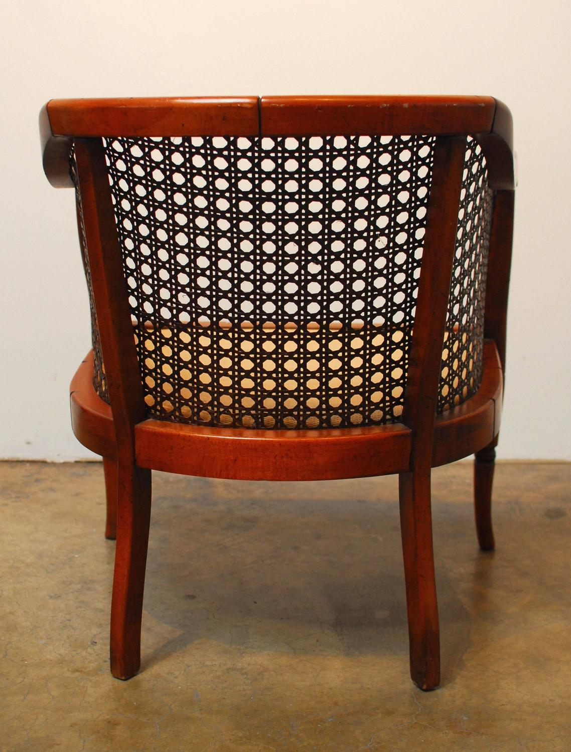 cane barrel chair covers groupon midcentury bamboo for sale at 1stdibs