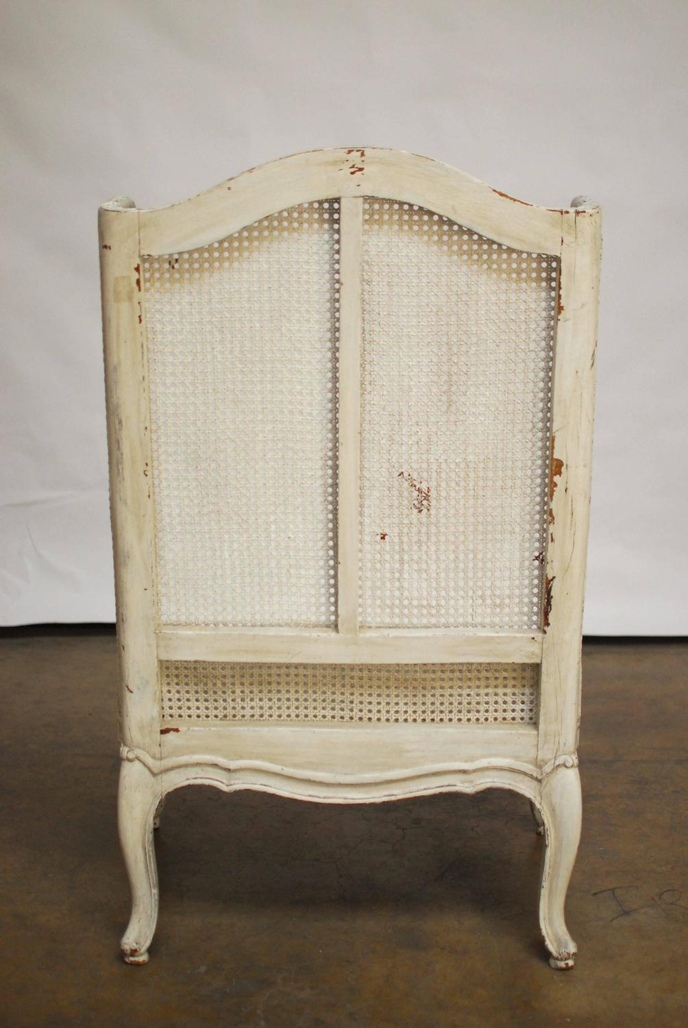 pads for chair legs portable dental india louis xv cane wingback bergere sale at 1stdibs