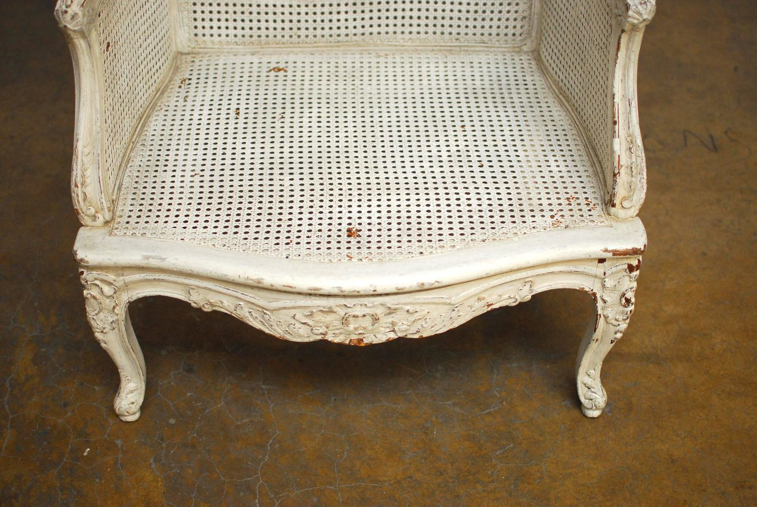 bergere chairs for sale shabby chic kitchen chair cushions louis xv cane wingback at 1stdibs