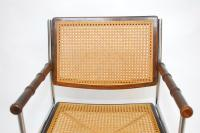 Pair of Mid-Century Chrome and Caned Director Chairs For ...