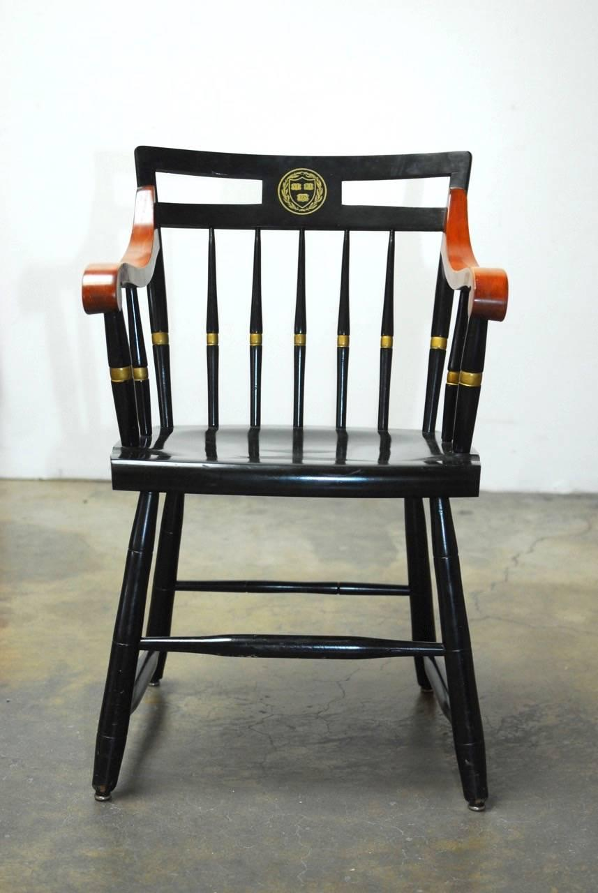 harvard chair for sale large fishing set of four nichols and stone scholar s chairs at 1stdibs american