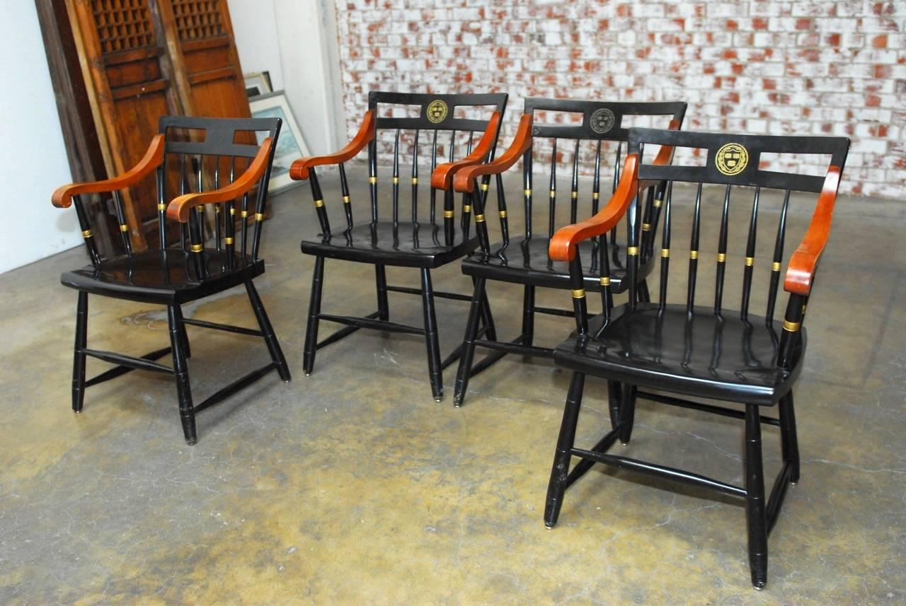 harvard chair for sale bath baby set of four nichols and stone scholar s chairs at 1stdibs in good condition oakland