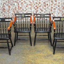 Harvard Chair For Sale Galvanized Steel Chairs Set Of Four Nichols And Stone Scholar S At 1stdibs Mid Century Modern