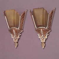 Pair of Slip Shade Wall Sconces, 1930 at 1stdibs