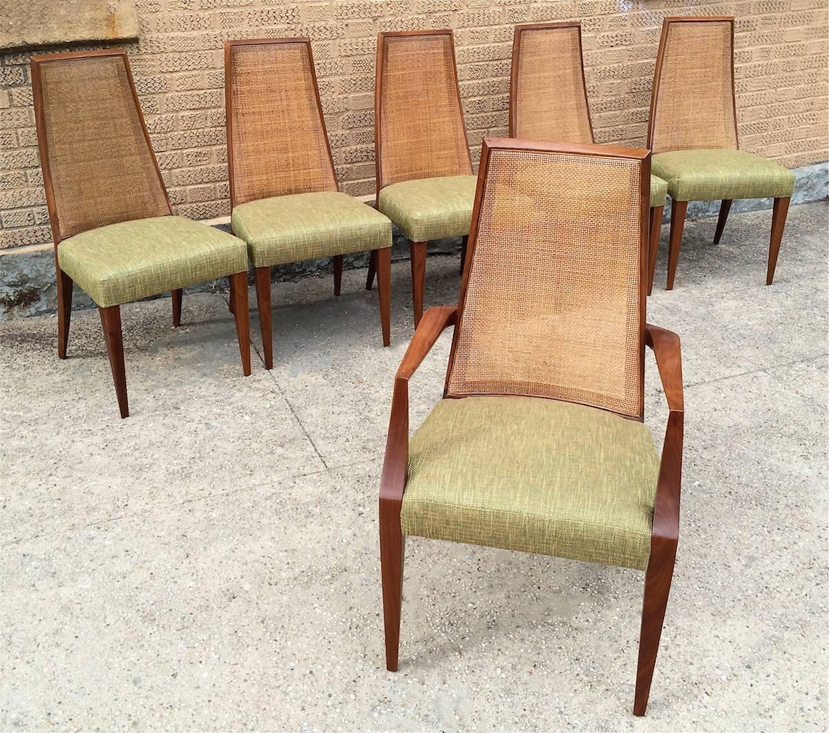 cane dining chairs for sale office chair mat target mid century modern tall back by