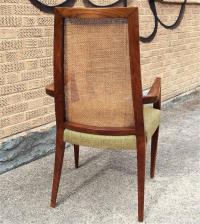 Mid-Century Modern Tall Cane Back Dining Chairs by ...