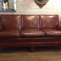 A Sofa In The Forties Wooden Frame Futon Bed 1940s Stately Leather Club By Sikes Furniture Co
