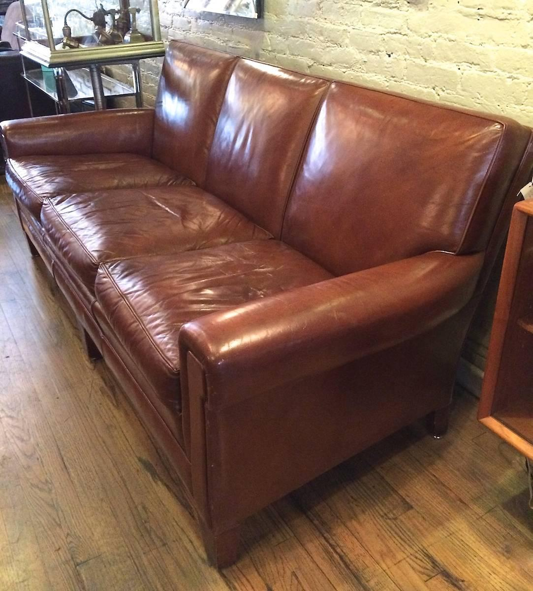 sikes chair company childrens table and chairs new zealand 1940s stately leather club sofa by the furniture co