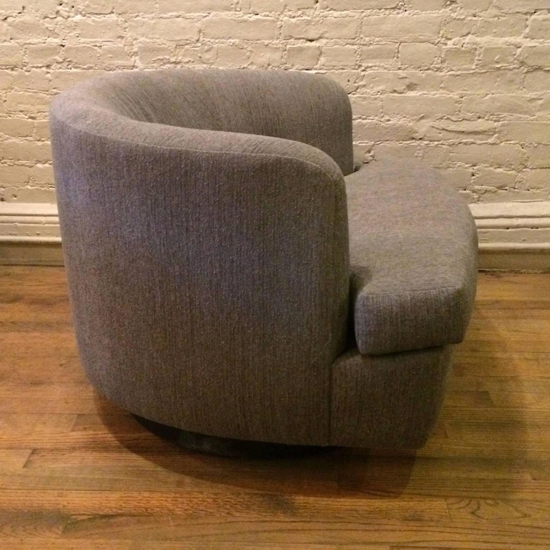 low profile chairs orange side chair plush barrel shape swivel club for sale