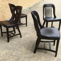 Sikes Chair Company Toddler Harness Pair Of Ebonized Gunlocke Bank England Side Chairs For