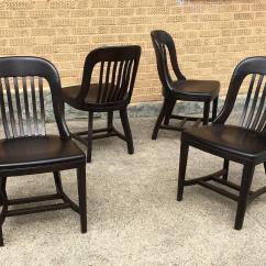 Sikes Chair Company Fishing Setup Pair Of Ebonized Gunlocke Bank England Side Chairs For
