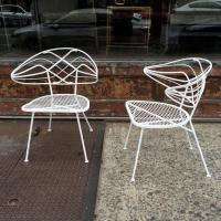 Pair of Unique Mid-Century Wrought Iron Patio Chairs at ...