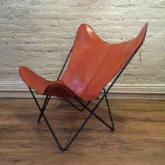 Butterfly Lounge Chair Ergonomic Mesh Singapore Leather By Jorge Ferrari Hardoy For Knoll