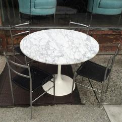 Conference Chairs For Sale Plastic Cafe Johannesburg Mid-century Modern Tulip Base Dining Table With Round Marble Top At 1stdibs