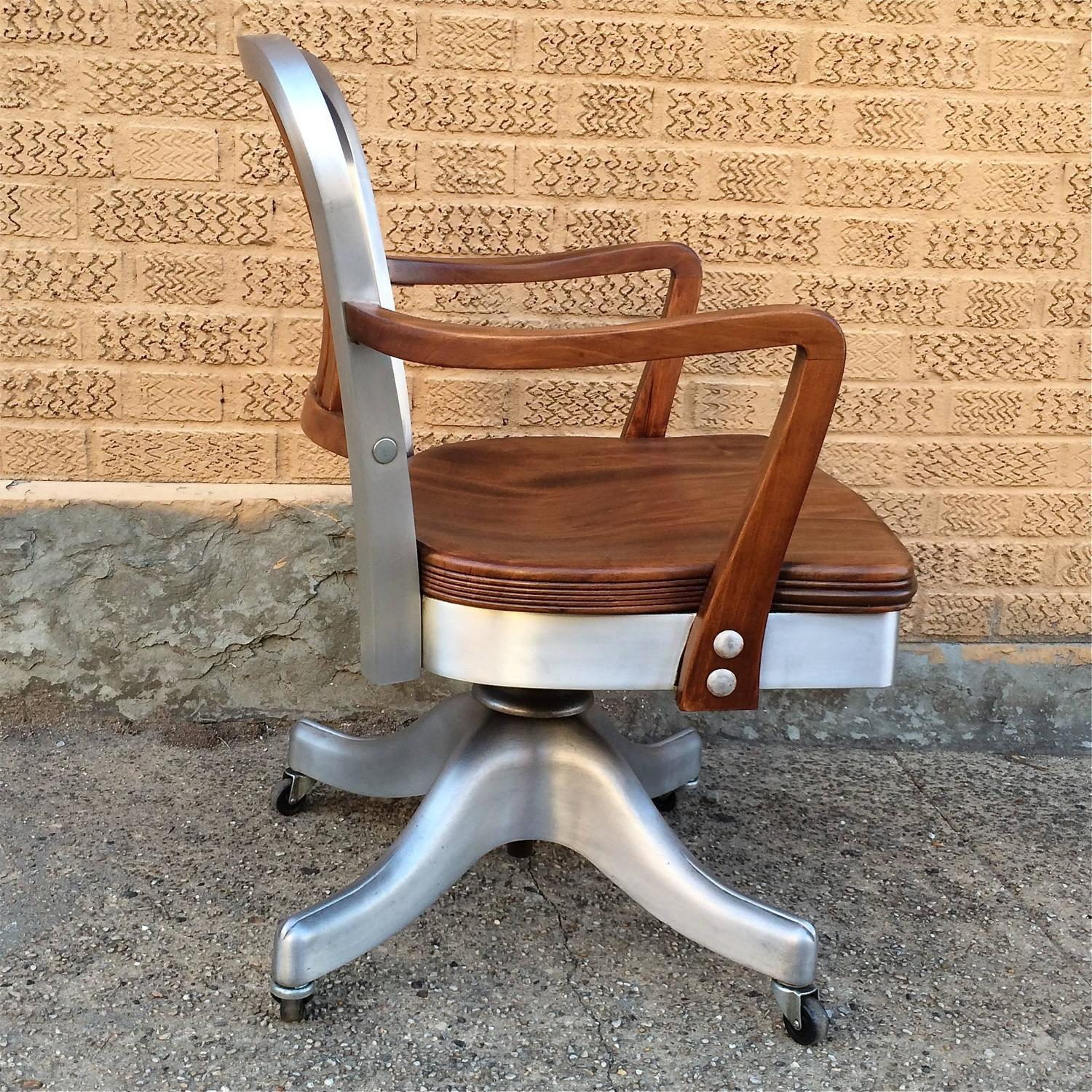 shaw walker chair hair dryer dimensions rolling aluminum and walnut office desk