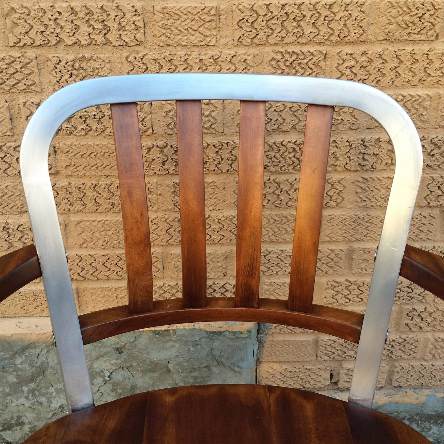 shaw walker chair chairs with speakers rolling aluminum and walnut office desk