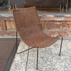 Woven Lounge Chair Slipper Chairs Under 100 Rattan And Wrought Iron For