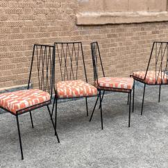 Wrought Iron Chair Toddler With Name Set Of Four Rare Paul Mccobb Patio Dining Chairs For Mid Century Modern