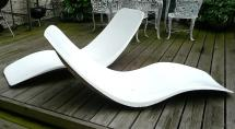 Charles Zublena Fiberglass Pool Chaise Lounges France