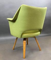 Mid-Century Modern Upholstered Swivel Armchair by Thonet ...